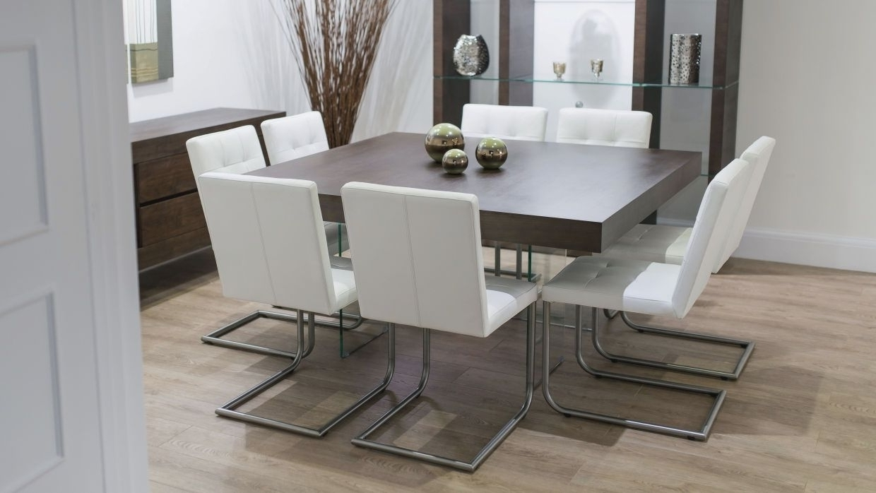Best And Newest Perth Glass Dining Tables Intended For Dining Tables. Inspiring 8 Seater Round Dining Table And Chairs (Gallery 9 of 25)