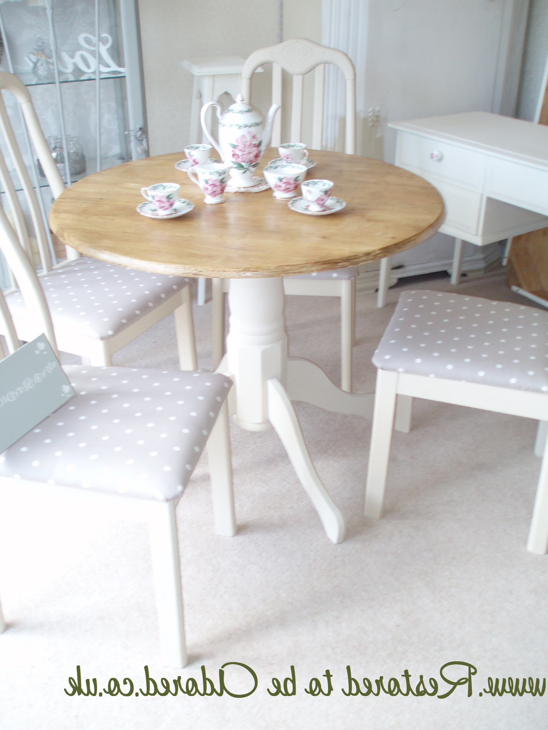 Best And Newest Shabby Chic Dining Table And Chairs ~ Before And After – Restored To Throughout Shabby Dining Tables And Chairs (View 4 of 25)