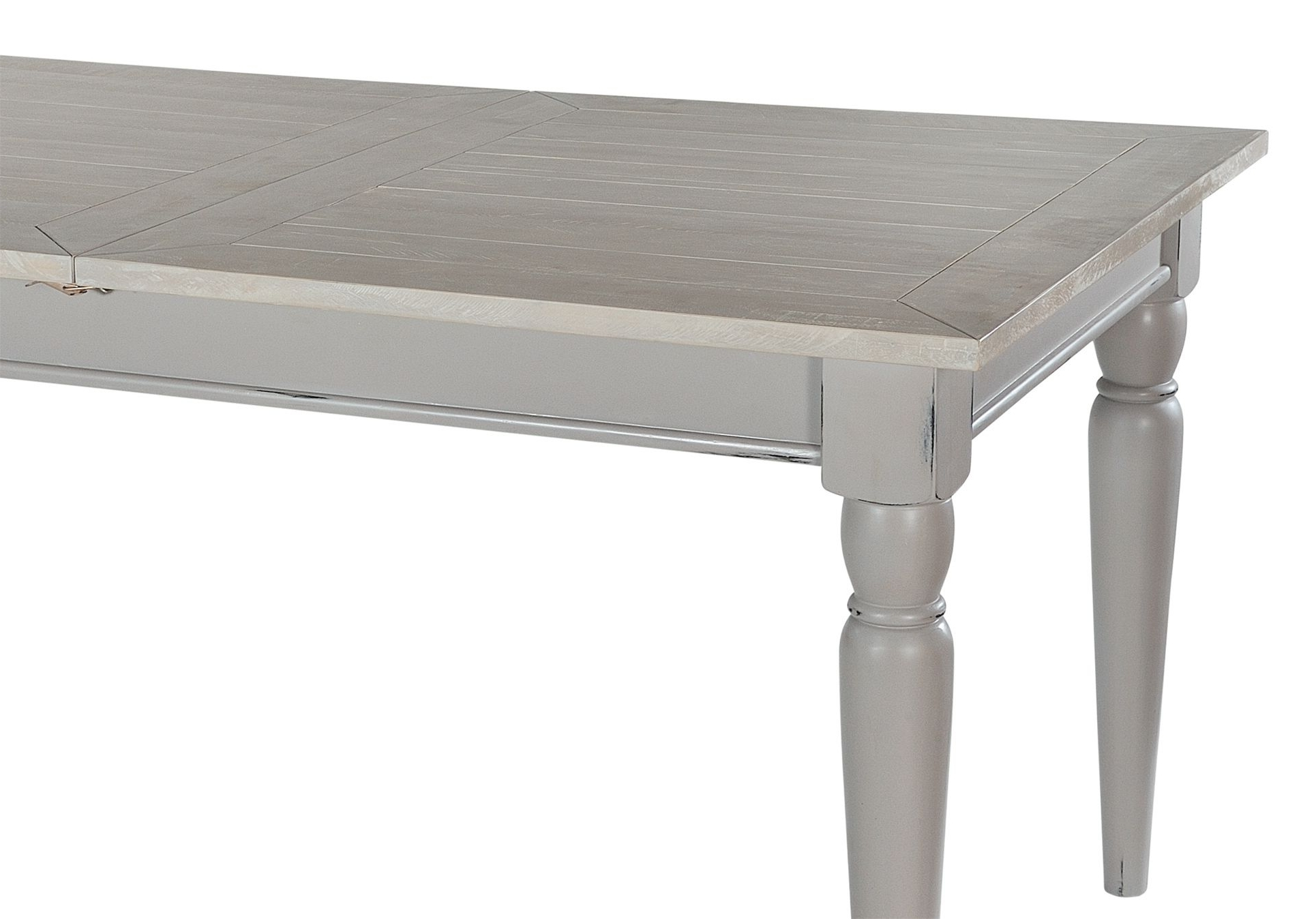 Best And Newest Shabby Chic Extendable Dining Tables With Regard To Grey Shabby Chic Extendable Dining Table – Bovary (View 4 of 25)