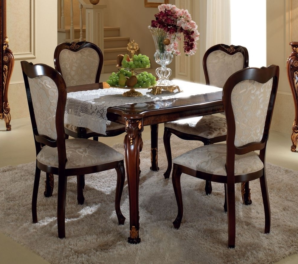 Best And Newest Square Extending Dining Tables For Buy Arredoclassic Donatello Brown Italian Square Extending Dining (View 24 of 25)