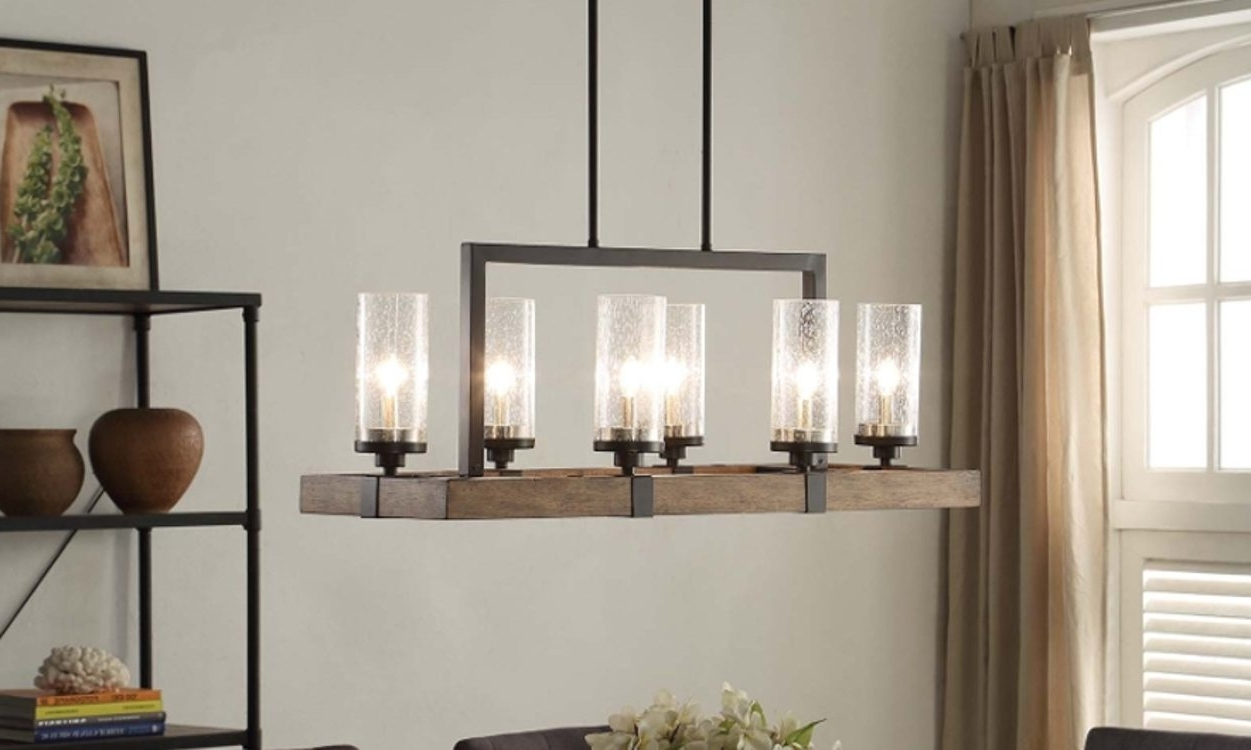 Best And Newest Top 6 Light Fixtures For A Glowing Dining Room – Overstock Throughout Dining Tables With Led Lights (View 5 of 25)