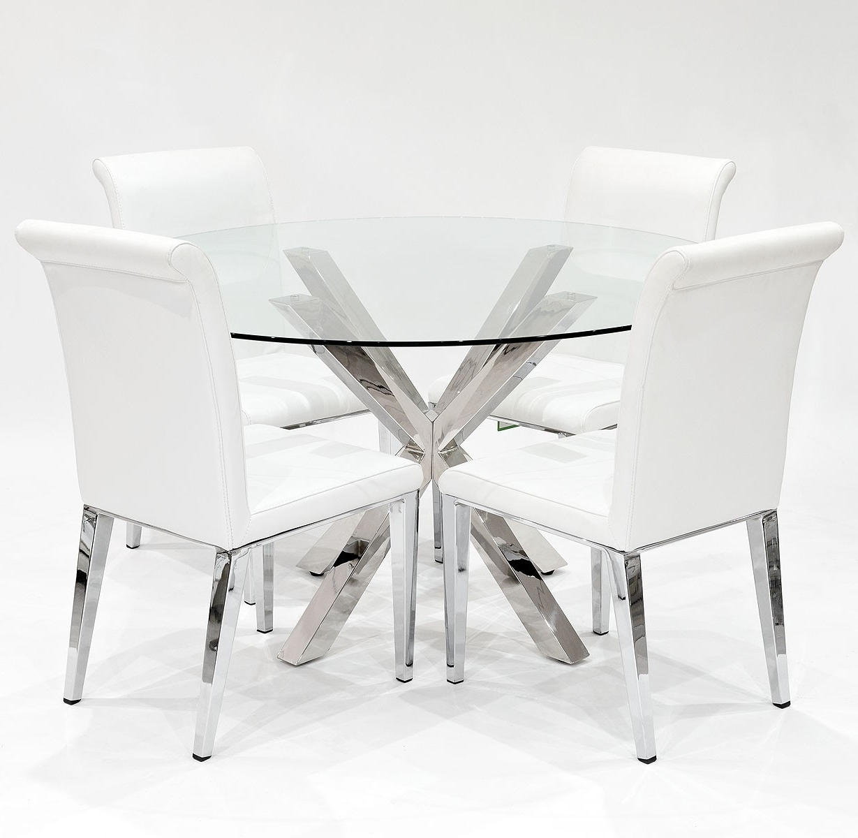 Best And Newest White Dining Chairs Throughout Crossly And White Kirkland Dining Set – Be Fabulous! (Gallery 7 of 25)
