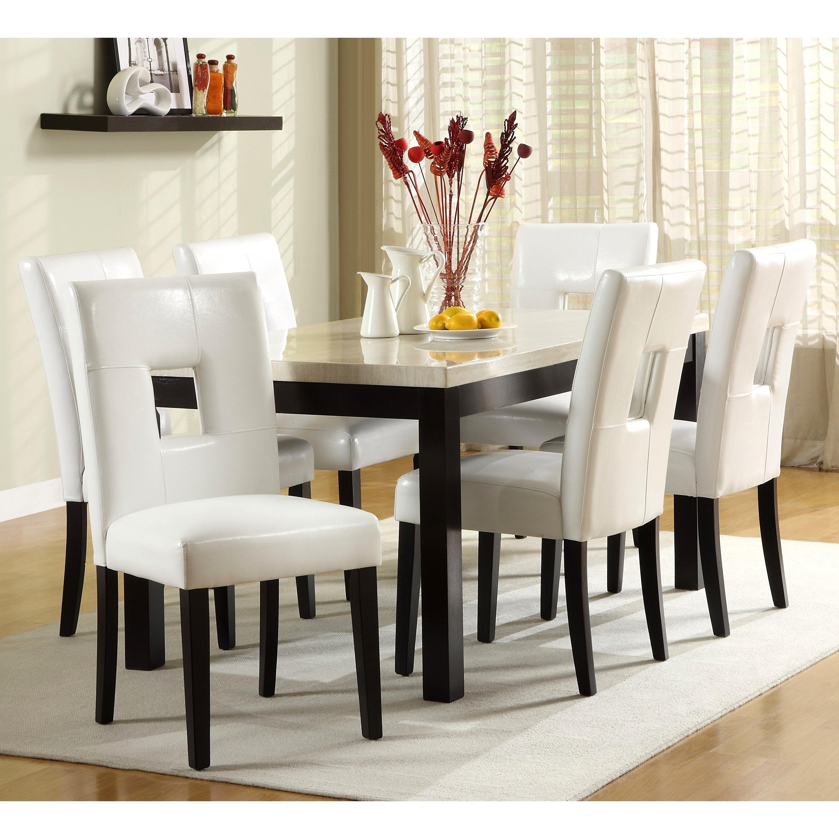 Best And Newest White Dining Tables Sets In Charming Cream Dining Tables Chairs Luxurius Home Attractive White (View 10 of 25)