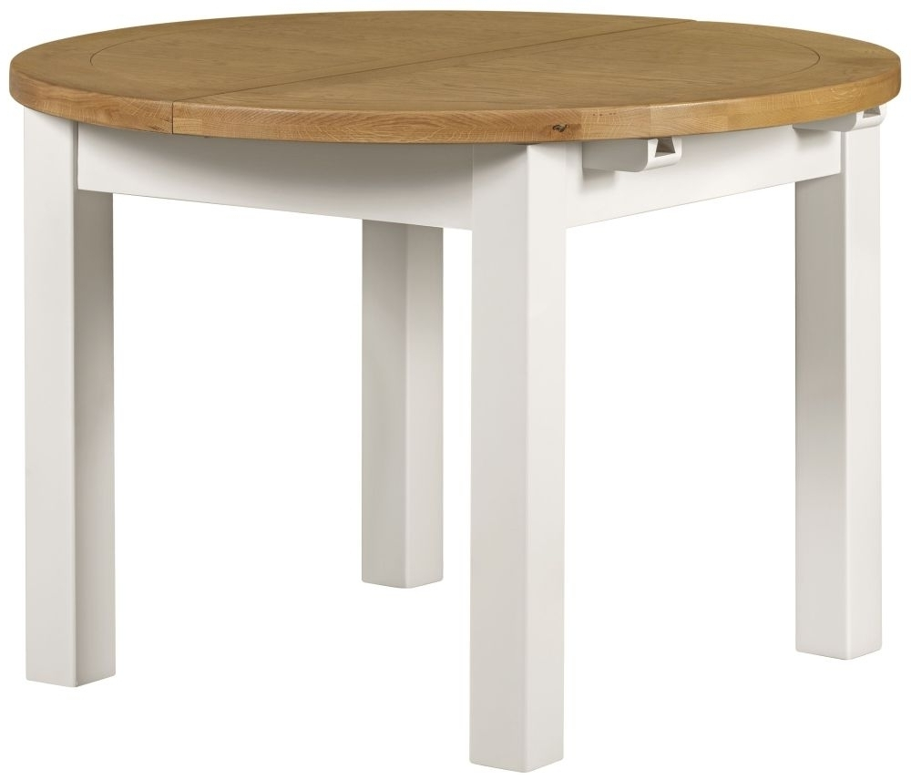 Best And Newest White Round Extending Dining Tables Intended For Buy Lundy White Dining Table – Round Extending Online – Cfs Uk (View 24 of 25)