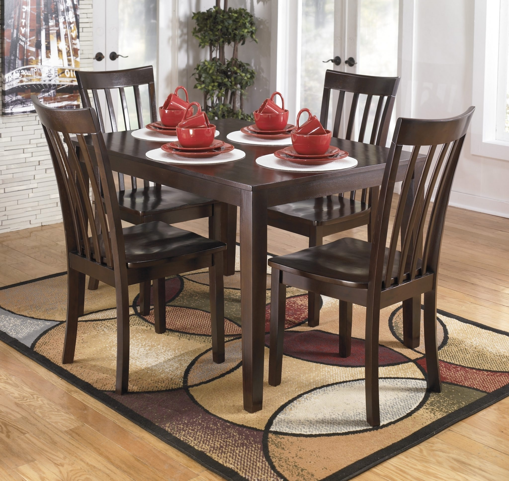 Best Furniture Mentor Oh Throughout Hyland 5 Piece Counter Sets With Stools (View 4 of 25)