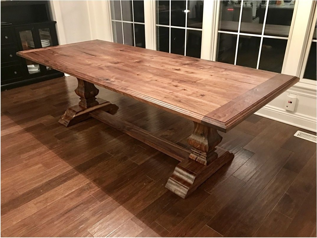 Best Pedestal Walnut Dining Table Custom Woodworking – Walnut Dining In Best And Newest Walnut Dining Tables (View 3 of 25)