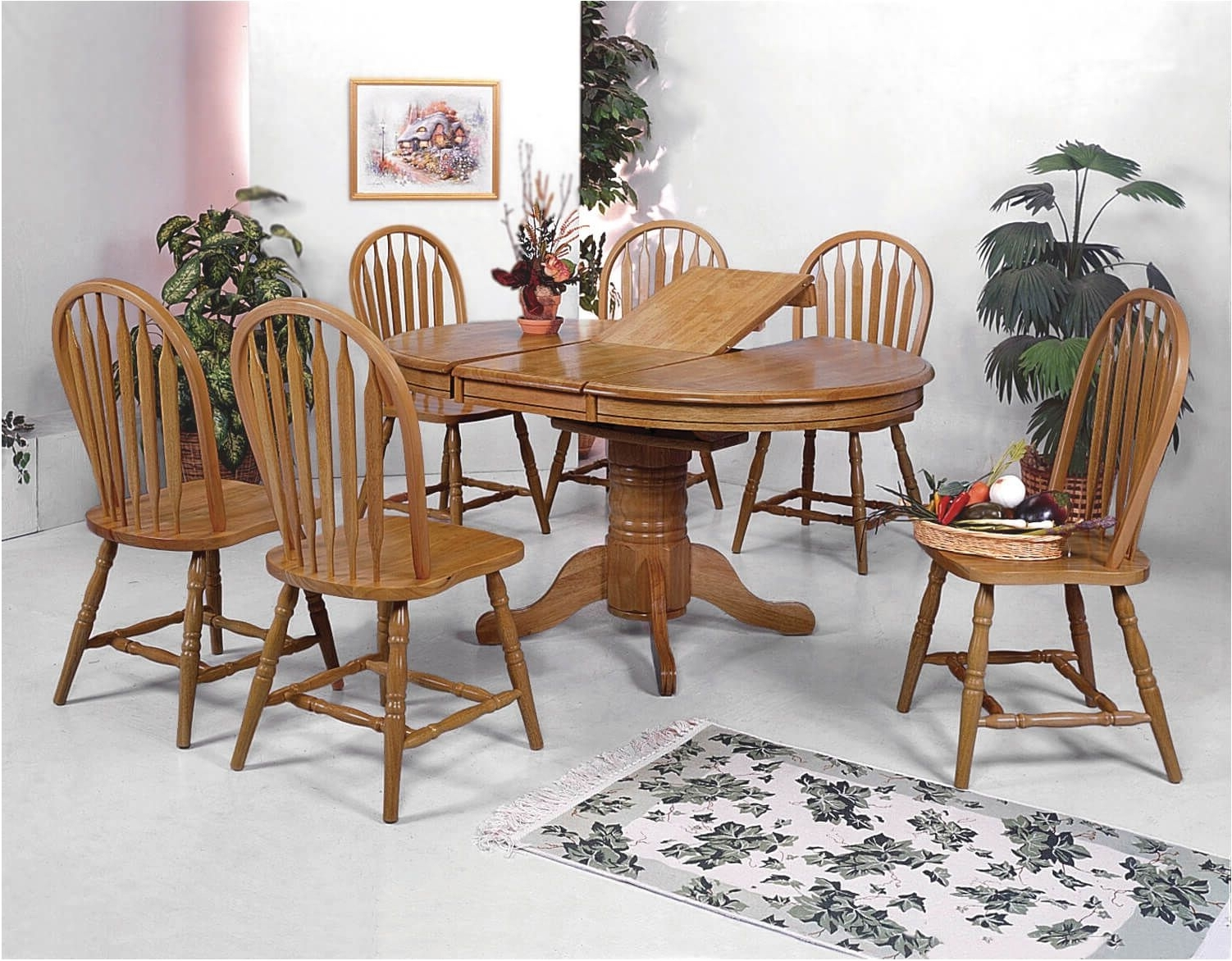 Best Solid Oak Dining Table And 6 Chairs Solid Oak Dining Table And Regarding Trendy Solid Oak Dining Tables And 6 Chairs (View 3 of 25)