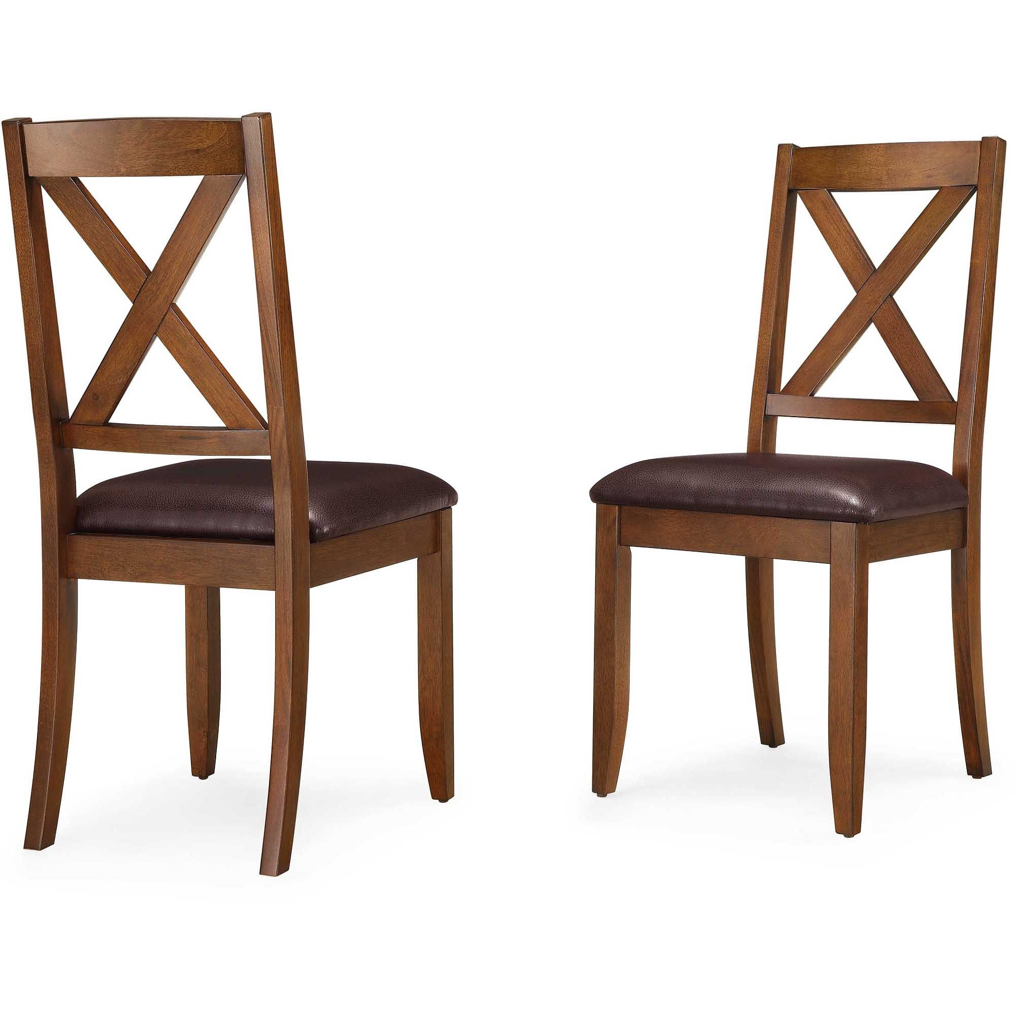 Better Homes & Gardens Maddox Crossing Dining Chair, Set Of 2, Brown With Current Dining Chairs (View 17 of 25)