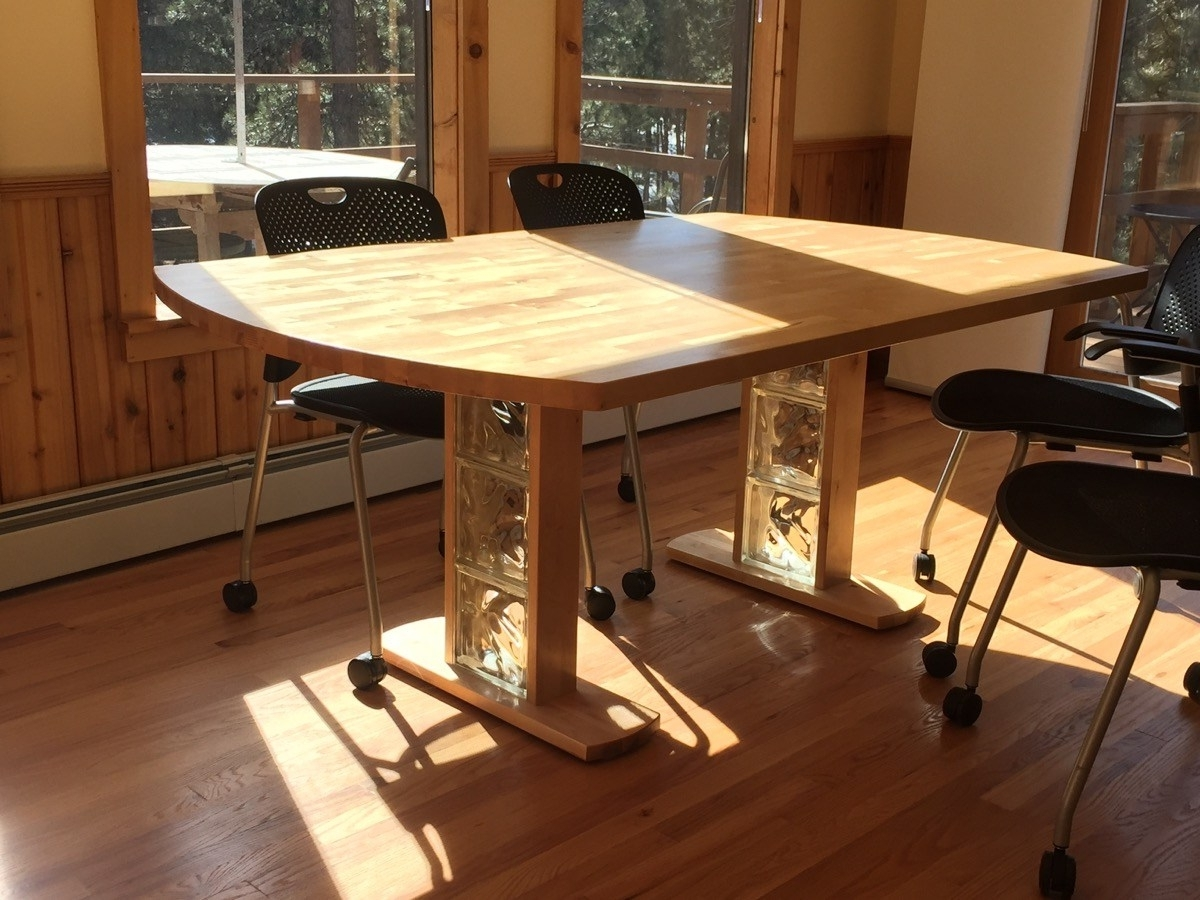 Birch Dining Table From Hammarp Countertop – Ikea Hackers Within Fashionable Birch Dining Tables (Gallery 22 of 25)