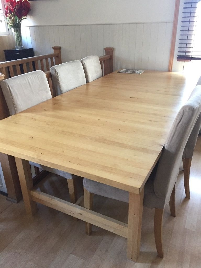 Birch Dining Tables Throughout Popular Reduced To 60 Ikea Norden Extendable Birch Dining Table (Gallery 2 of 25)