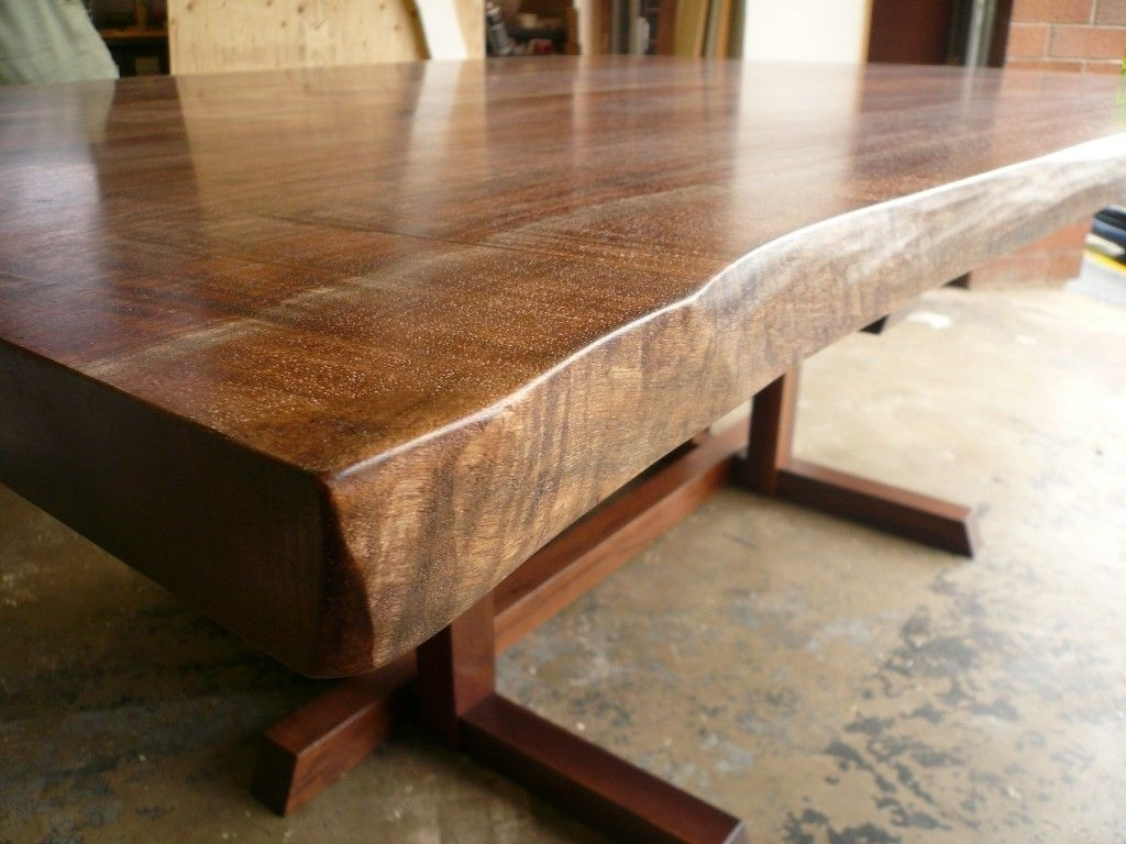 Birch Dining Tables With Newest Birch Dining Table 5 Live Edge Dark Walnut Dining Table 50 X 80 W (Gallery 19 of 25)
