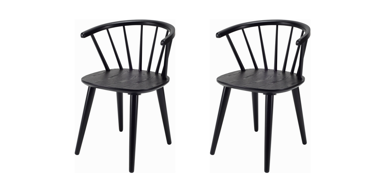 Black Dining Chairs For Comfortable Eating – Darbylanefurniture With Fashionable Black Dining Chairs (View 18 of 25)