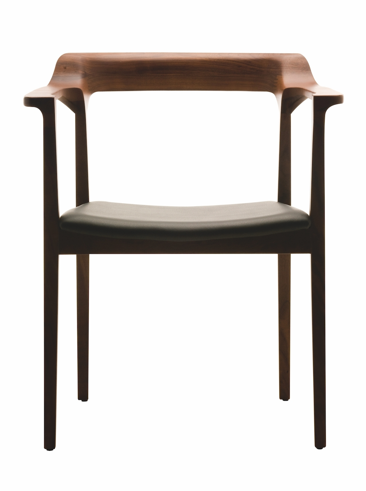Black Dining Chairs Throughout Widely Used Caitlan Dining Chair In Black Leather And Walnut Finishnuevo (Gallery 23 of 25)