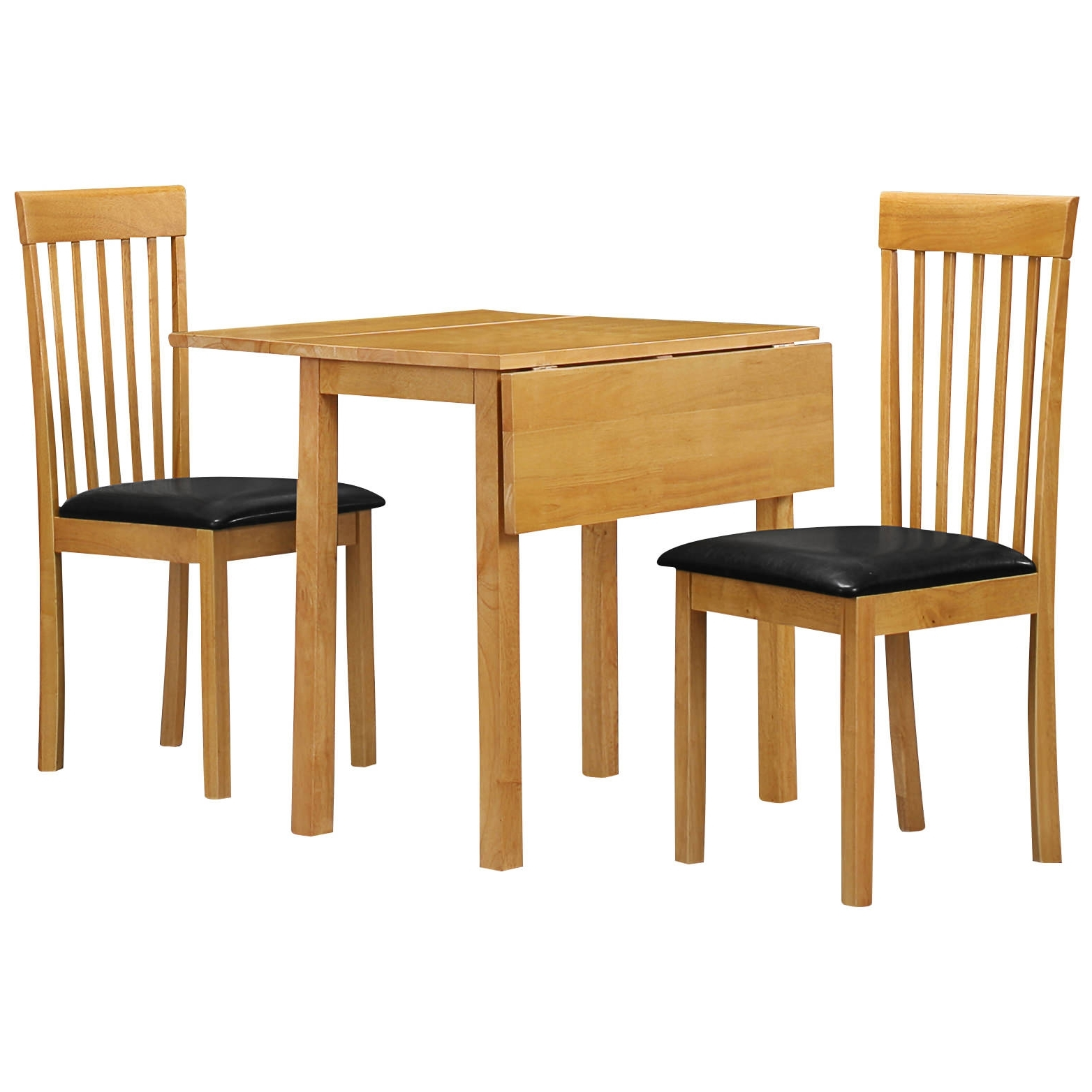 Black Extendable Dining Tables And Chairs In Recent Natural Oak Extending Extendable Dining Table And Chair Set With 2 (Gallery 13 of 25)