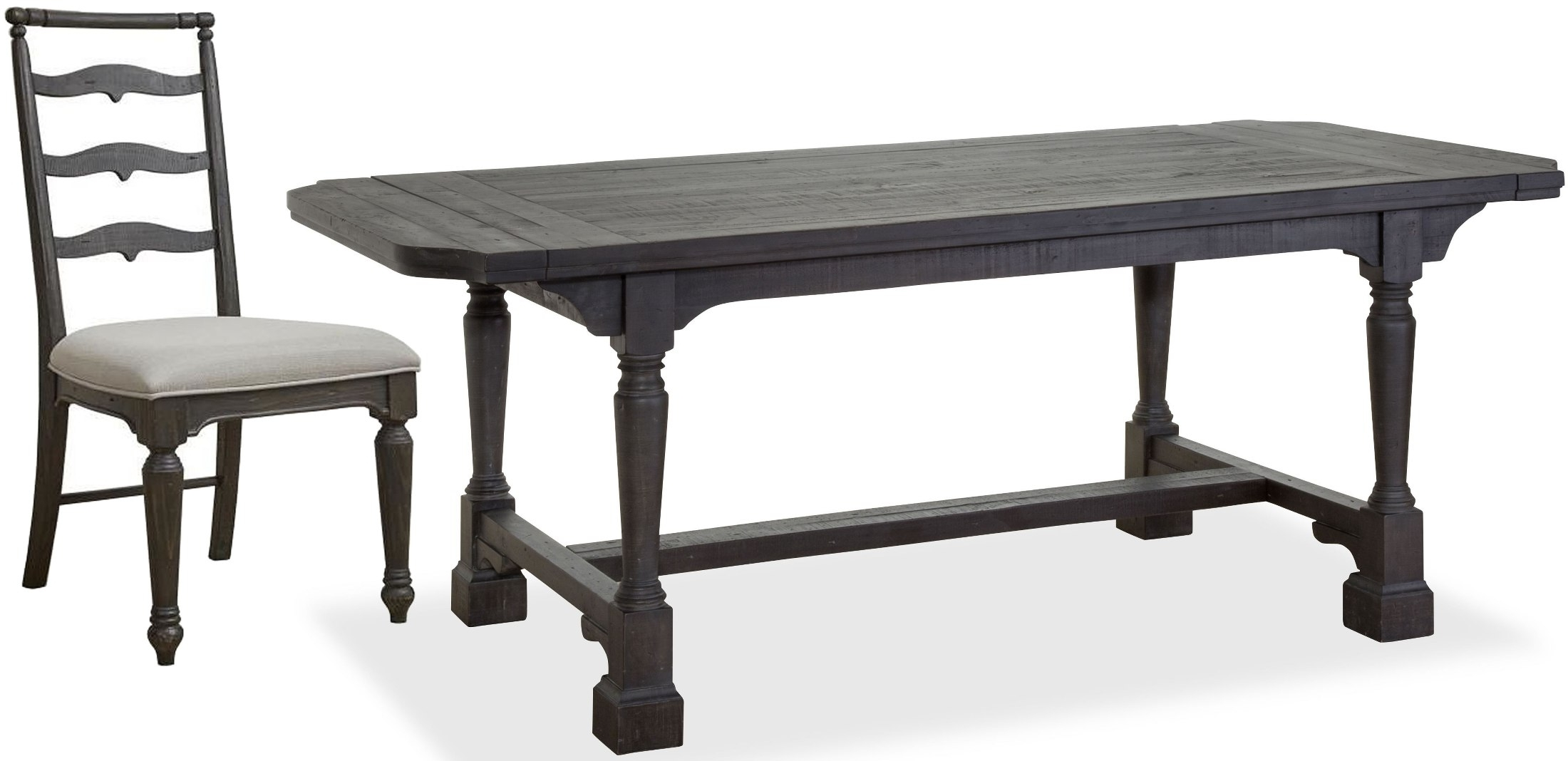 Black Extendable Dining Tables Sets For Most Popular Magnussen Bedford Corners Anvil Black Extendable Rectangular Dining (View 25 of 25)