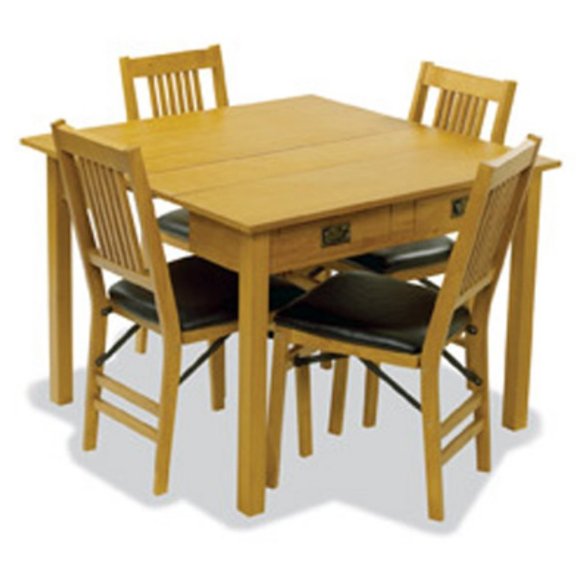 Black Folding Dining Tables And Chairs Intended For Most Popular Cute Folding Dining Table Come With Square Shape Wooden Folding (Gallery 17 of 25)