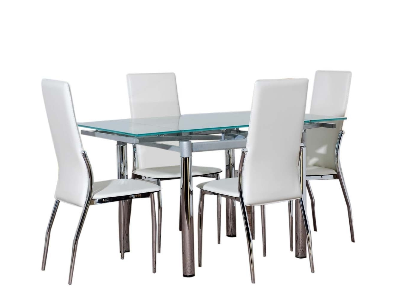 Black Glass Dining Tables And 4 Chairs Within Fashionable Glass Kitchen Tables Sets Glass Dining Table Furniture And 4 Cream (View 11 of 25)