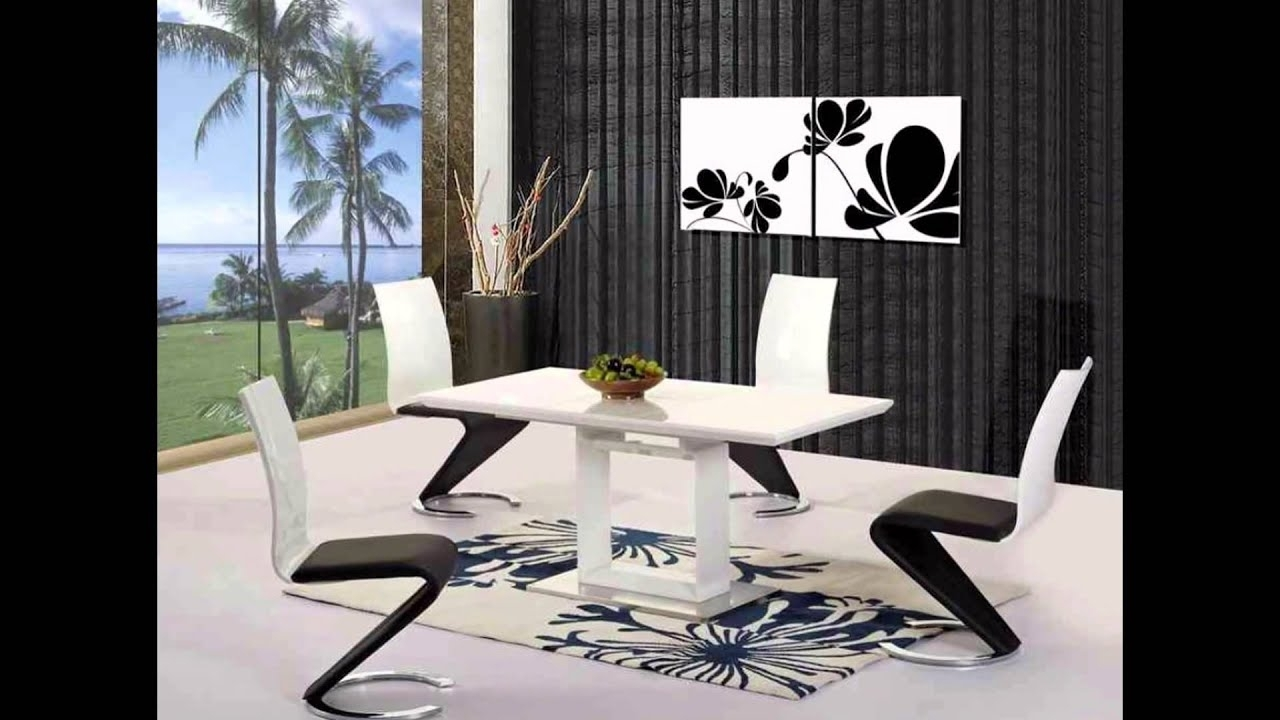 Black Gloss Dining Room Furniture With Regard To Most Recently Released White Black Grey High Gloss Dining Table And 4 6 8 Chairs Extending (Gallery 20 of 25)