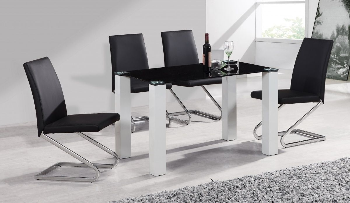 Black Gloss Dining Tables And Chairs In 2017 100+ Black High Gloss Dining Table And Chairs – Kitchen Backsplash (View 11 of 25)
