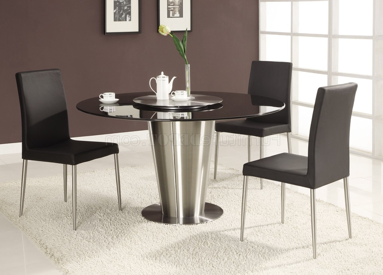 Black Marble Round Top Modern Dining Table With Regard To Widely Used Contemporary Dining Tables (Gallery 10 of 25)