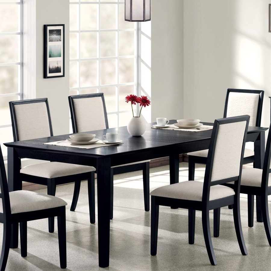 Black Wood Dining Tables Sets With Regard To Most Recent Shop Coaster Fine Furniture Louise Wood Extending Dining Table At (View 8 of 25)