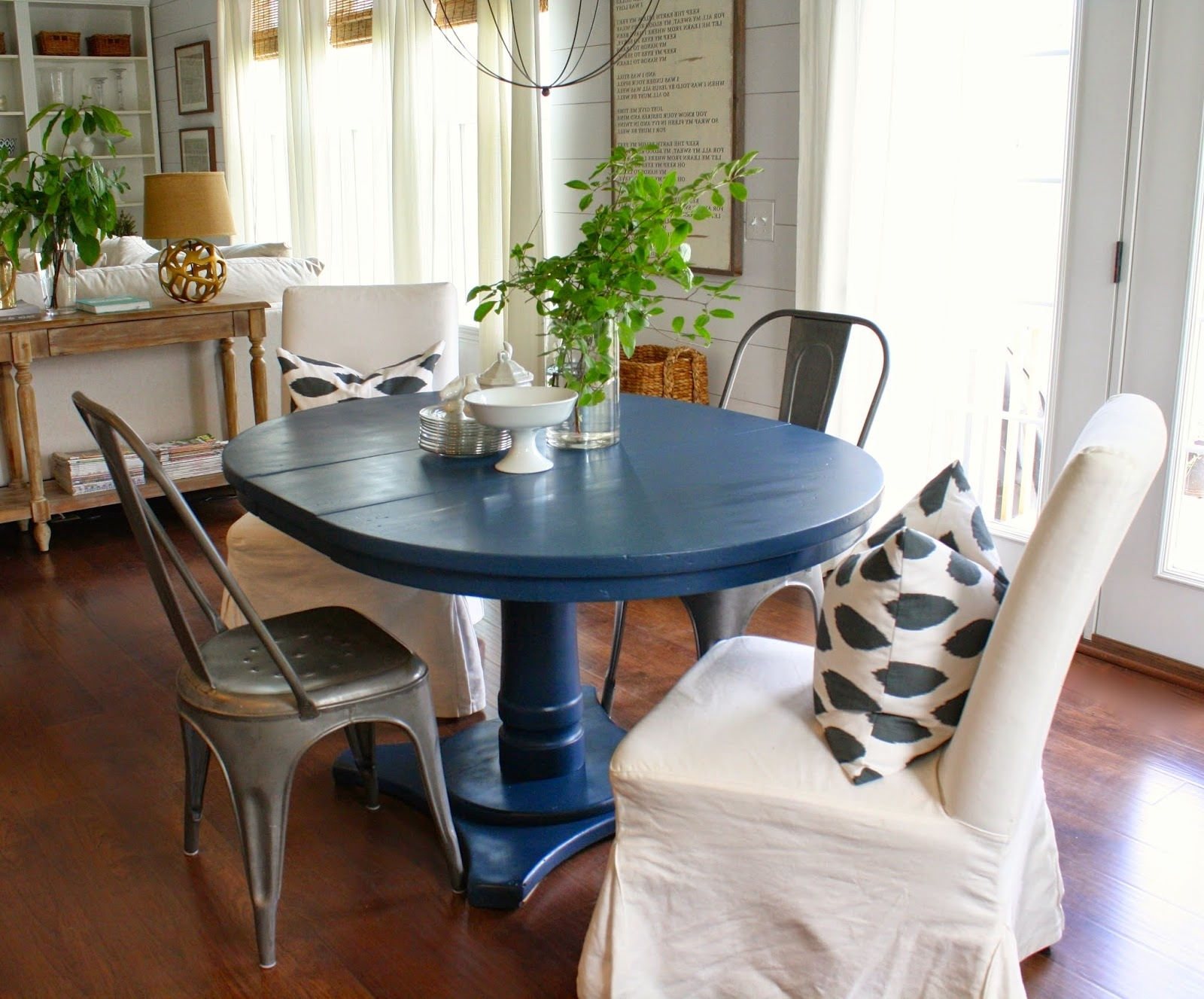 Blue Dining Tables Intended For Favorite Navy Blue Dining Table (Gallery 1 of 25)