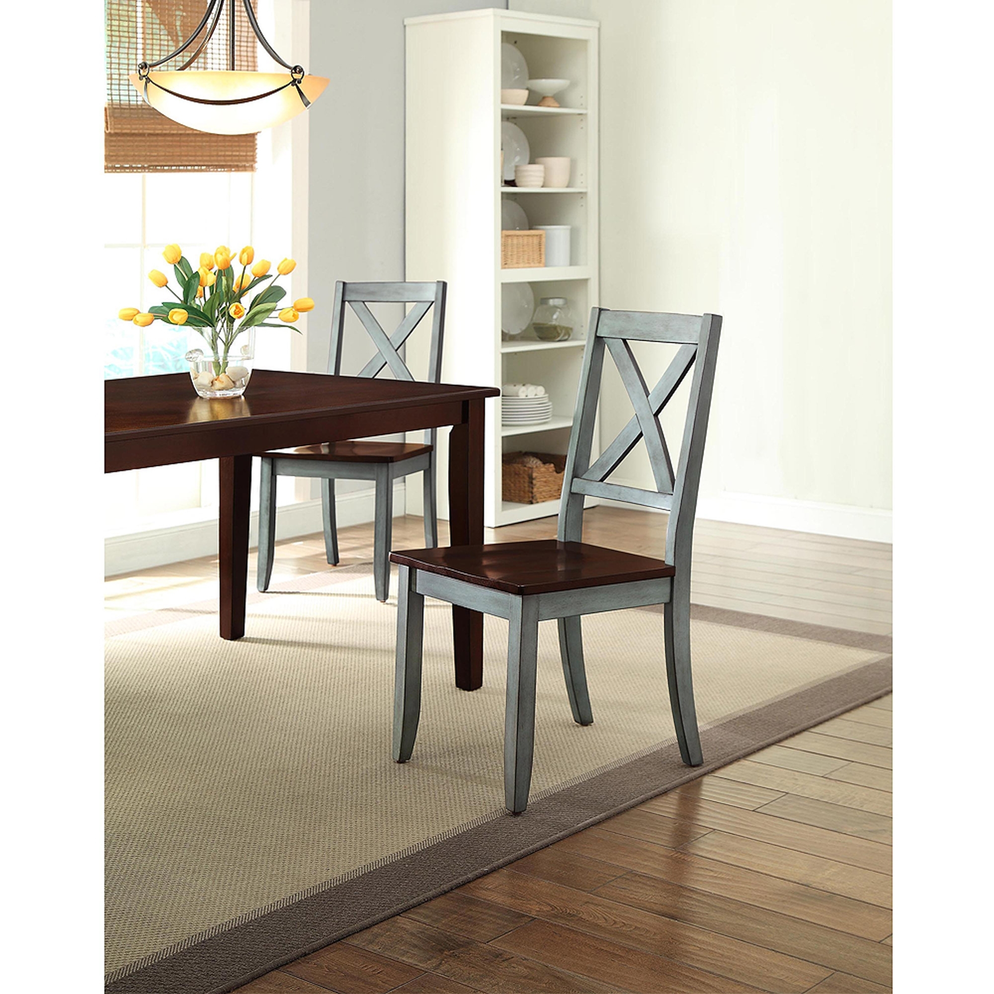 Blue Dining Tables Pertaining To Most Current Better Homes And Gardens Maddox 5 Piece Dining Set, Blue And Mocha (Gallery 9 of 25)