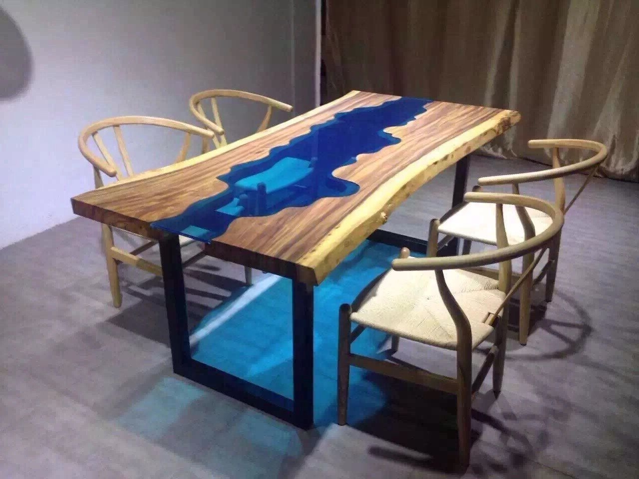 Blue Glass Dining Tables Within Favorite Live Edge Dining Table Inspiration For Your Dining Room (Gallery 2 of 25)