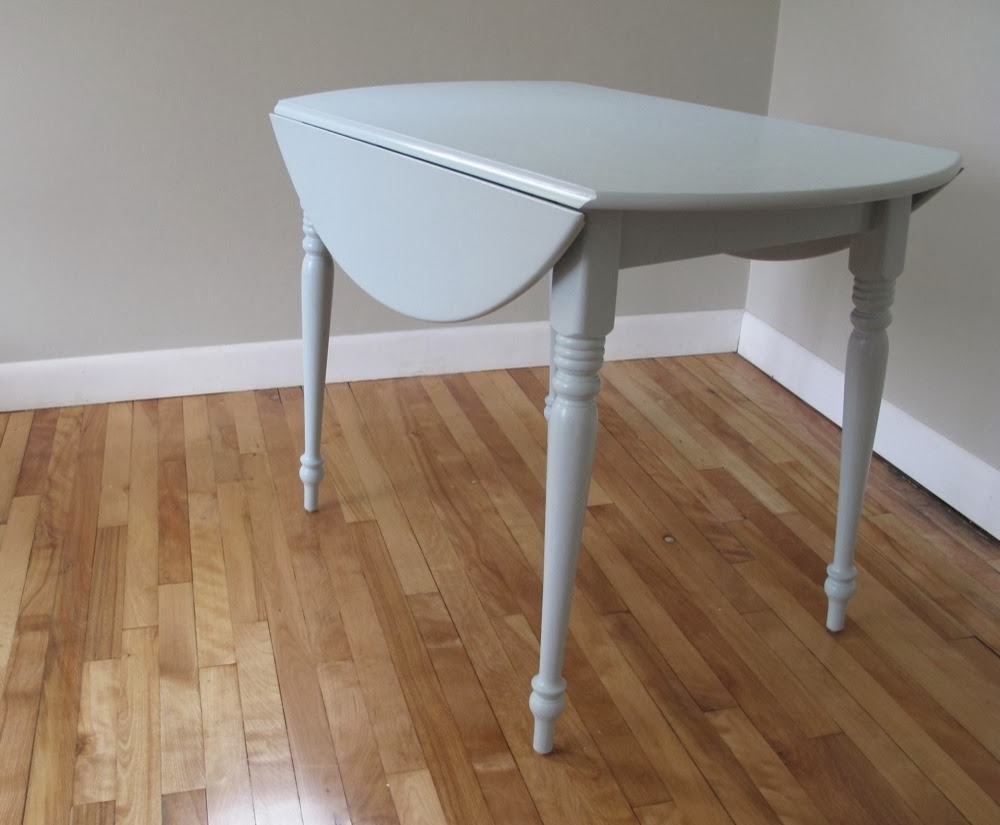 Blue Lamb Furnishings : Round Vintage Drop Leaf Dining Table – Sold For Popular Cheap Drop Leaf Dining Tables (View 5 of 25)