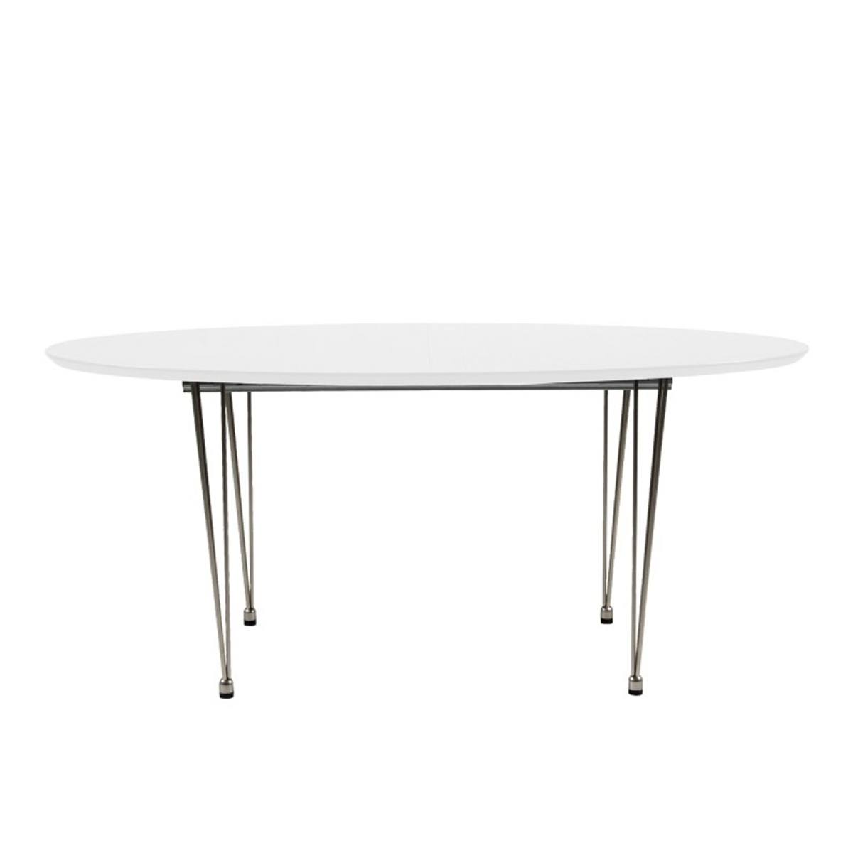 Bobby Oval Extending Dining Table White (View 13 of 25)