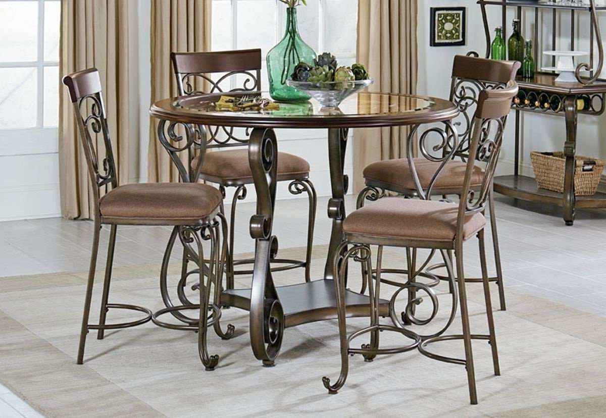 Bombay 5 Pc Counter Height Dining Room (View 10 of 25)