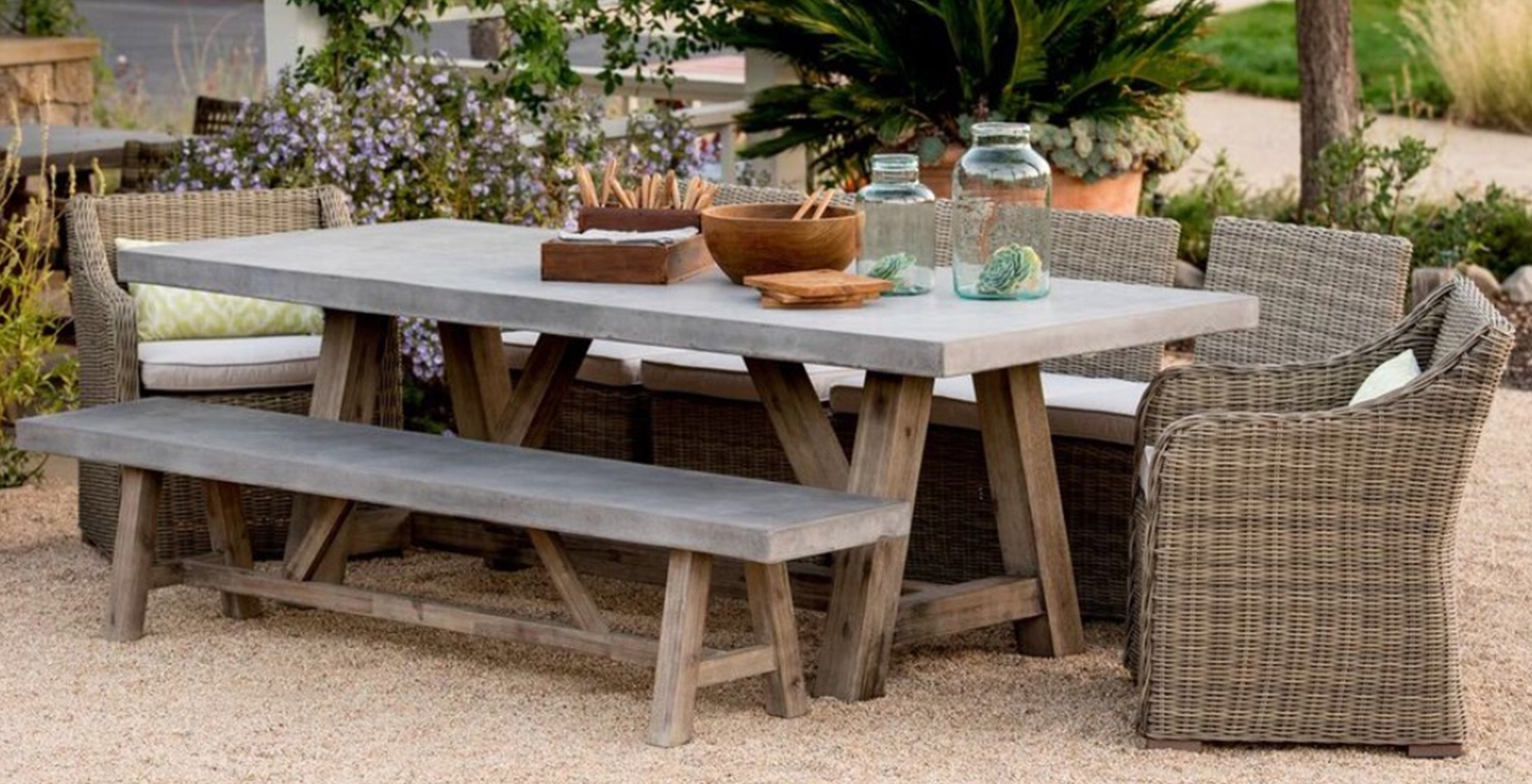 Bordeaux Dining Tables Throughout Most Recently Released Bordeaux Concrete Top Table – Outdoor Furniture (Gallery 12 of 25)