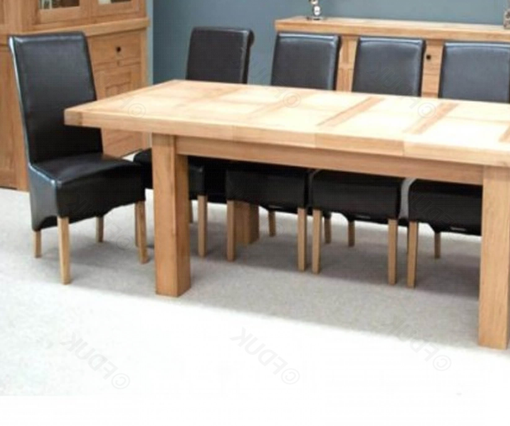 Bordeaux Oak Grand Extending Dining Table With 8 With Current Oak Extending Dining Tables And 8 Chairs (View 21 of 25)