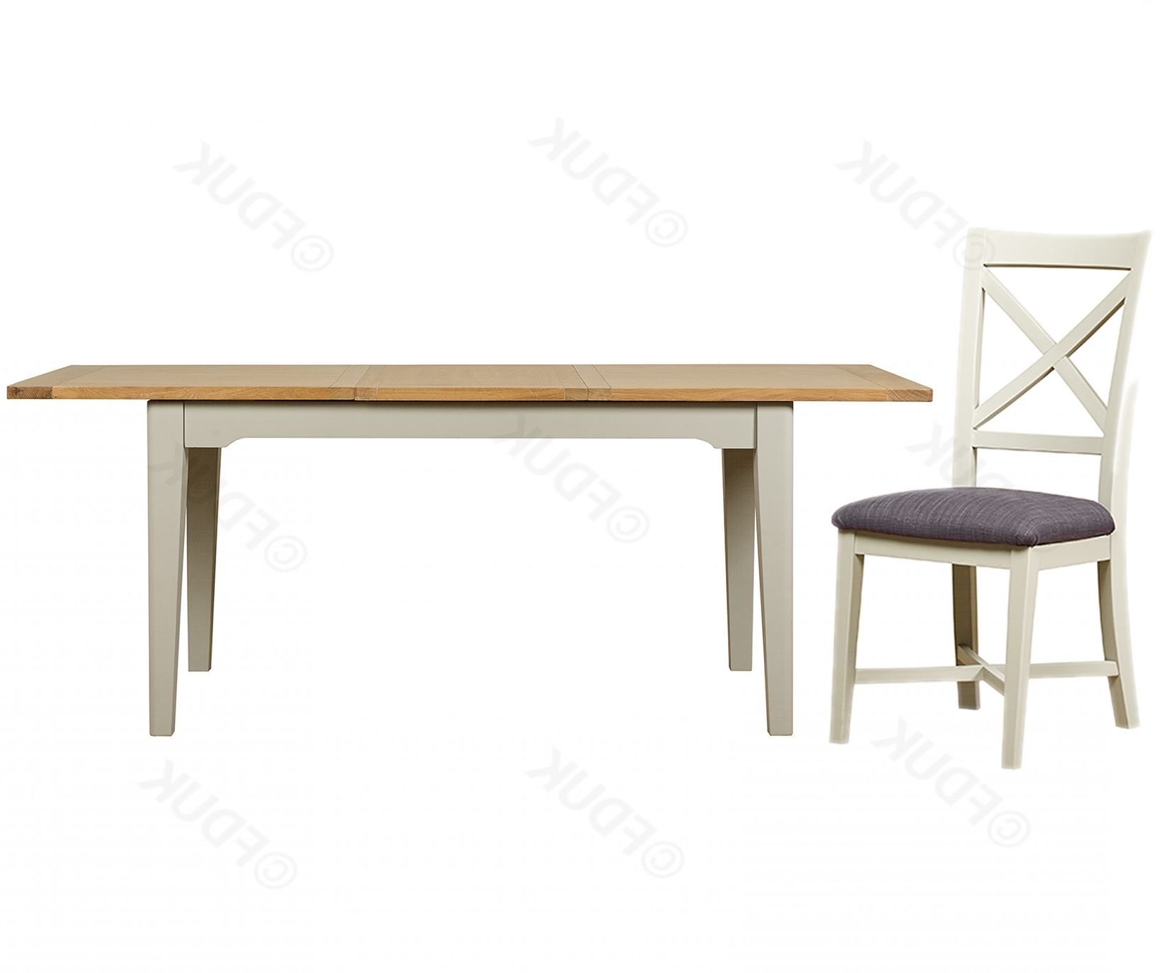 Bordeaux Small Extending Dining Table With  (View 11 of 25)