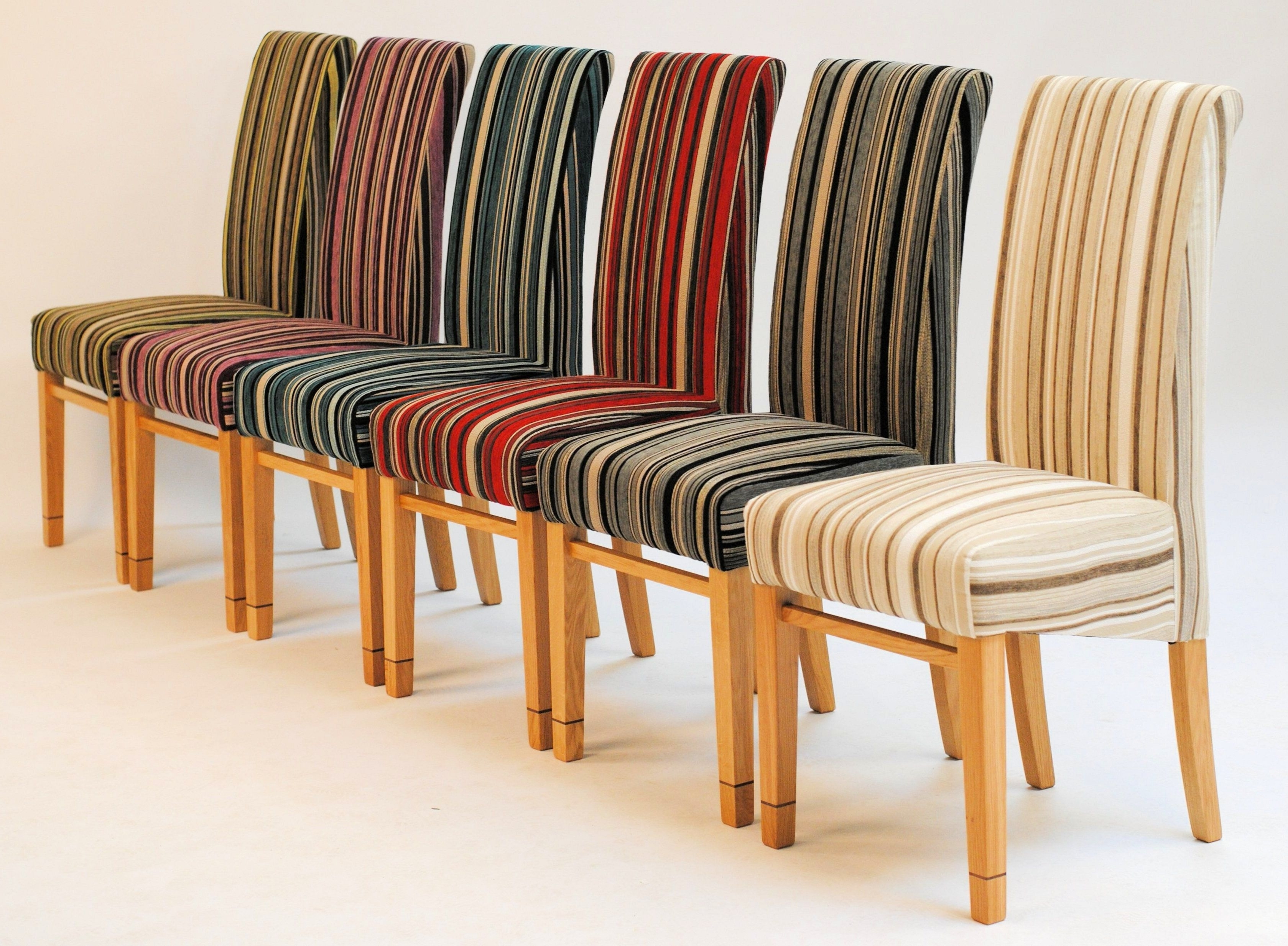 Bow518 A Pair Of Dining Chairs Intended For Well Known Fabric Dining Chairs (Gallery 21 of 25)