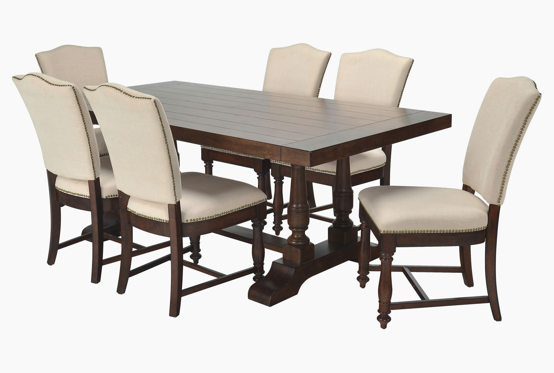Bradford 7 Piece Dining Sets With Bardstown Side Chairs Regarding Popular Living Spaces Dining Table Set Living Spaces Dining For Living (View 11 of 25)