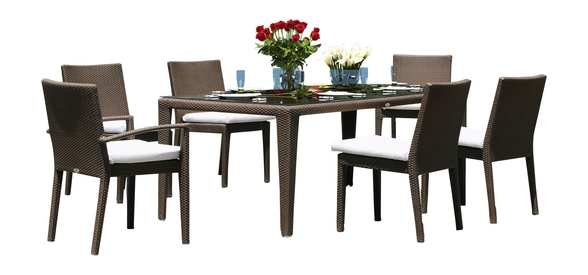 Bradford 7 Piece Dining Sets With Bardstown Side Chairs Throughout 2018 Hicklin 7 Piece Dining Set With Cushions (View 12 of 25)