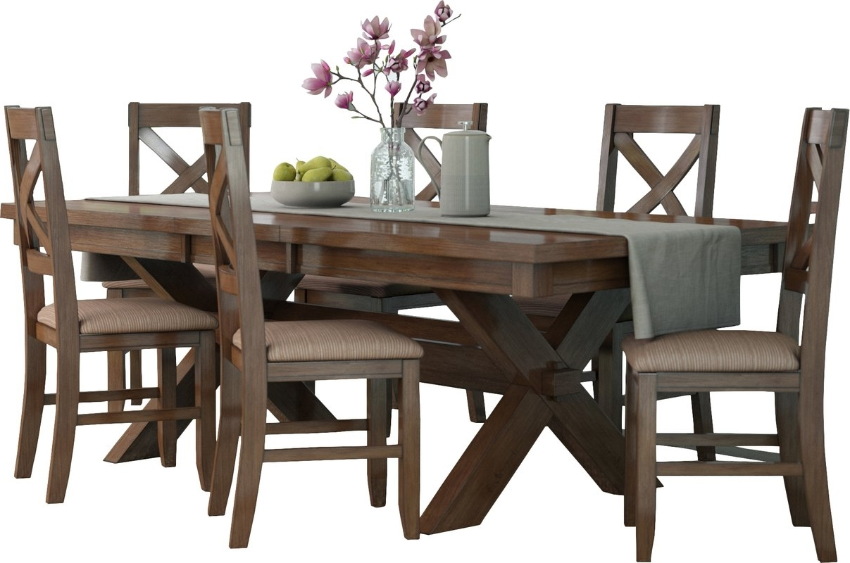 Bradford 7 Piece Dining Sets With Bardstown Side Chairs Throughout Trendy Dining Set – Dimarlinperez – (View 13 of 25)