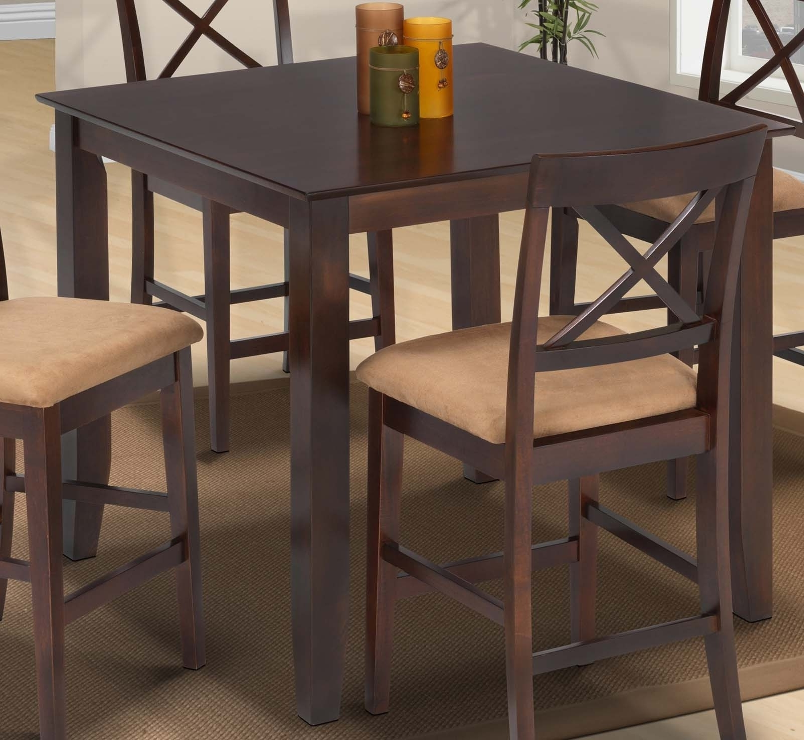 Bradford Suede Counter Height Dining Table (Chairs Sold Separately In Famous Bradford Dining Tables (View 8 of 25)