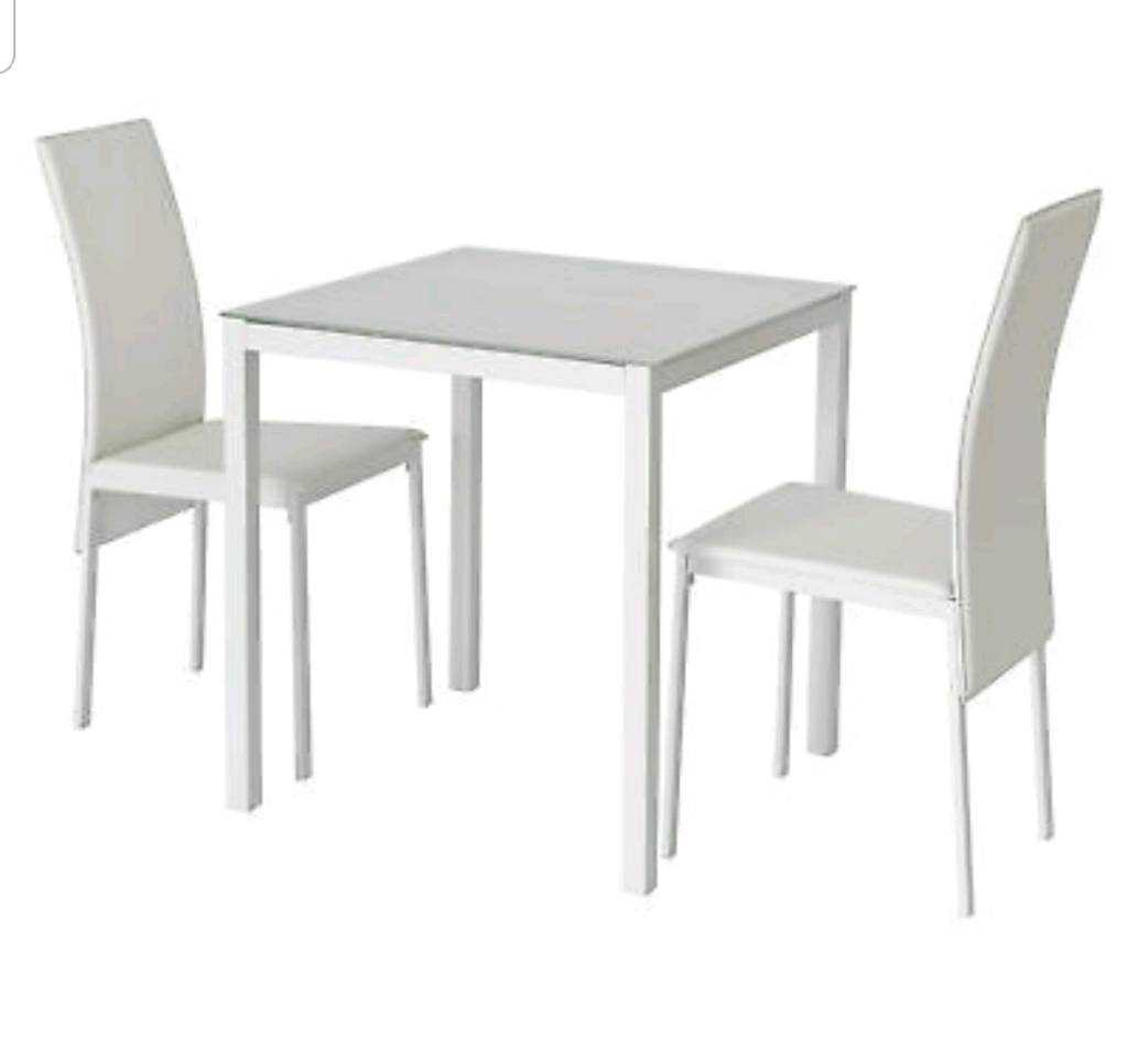 Brand New White Glass Dining Set (View 3 of 25)