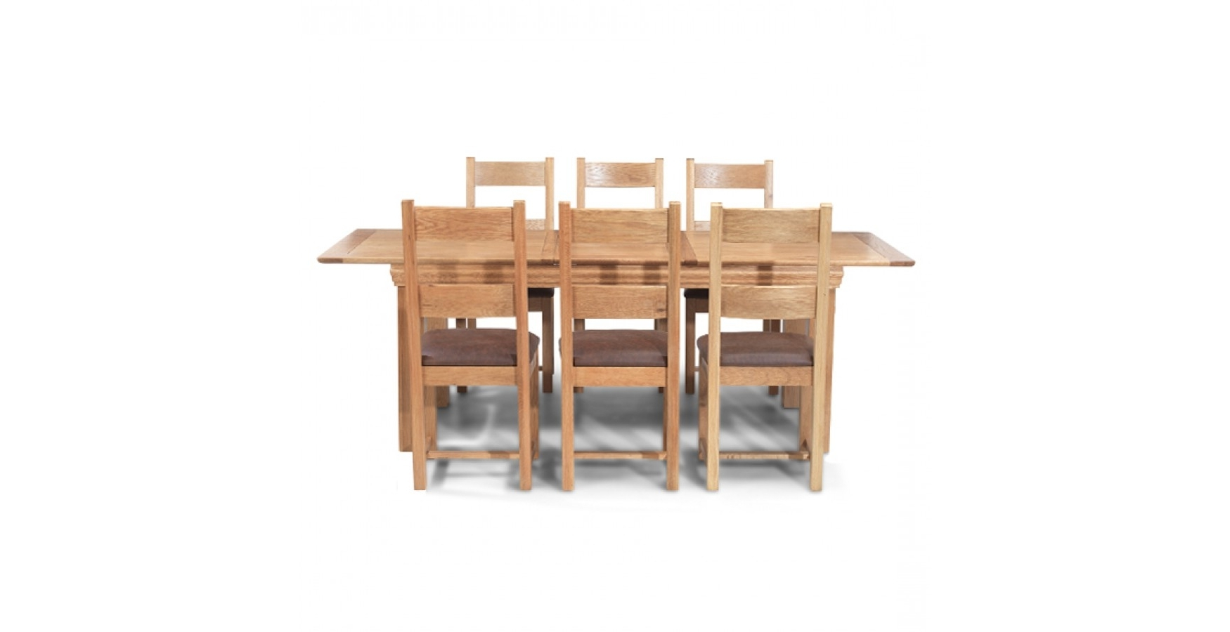 Breton Oak 140 180 Cm Extending Dining Table And 6 Chairs In Famous Oak Extending Dining Tables And 6 Chairs (View 24 of 25)