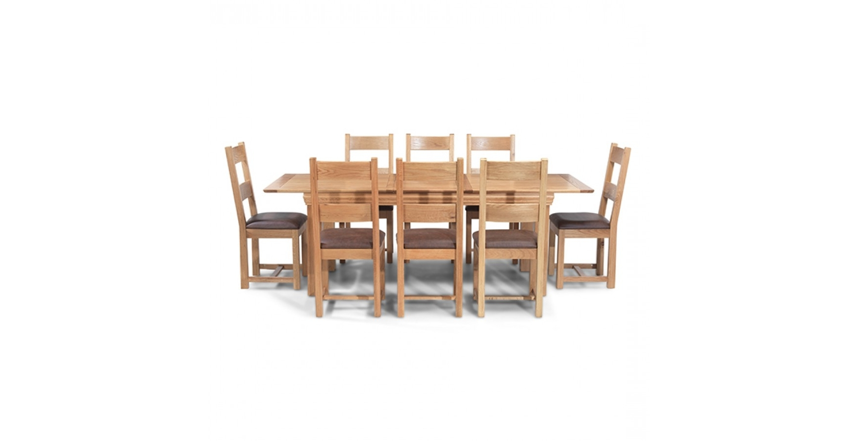 Breton Oak 140 180 Cm Extending Dining Table And 8 Chairs Pertaining To Most Recently Released Oak Extending Dining Tables And 8 Chairs (View 22 of 25)