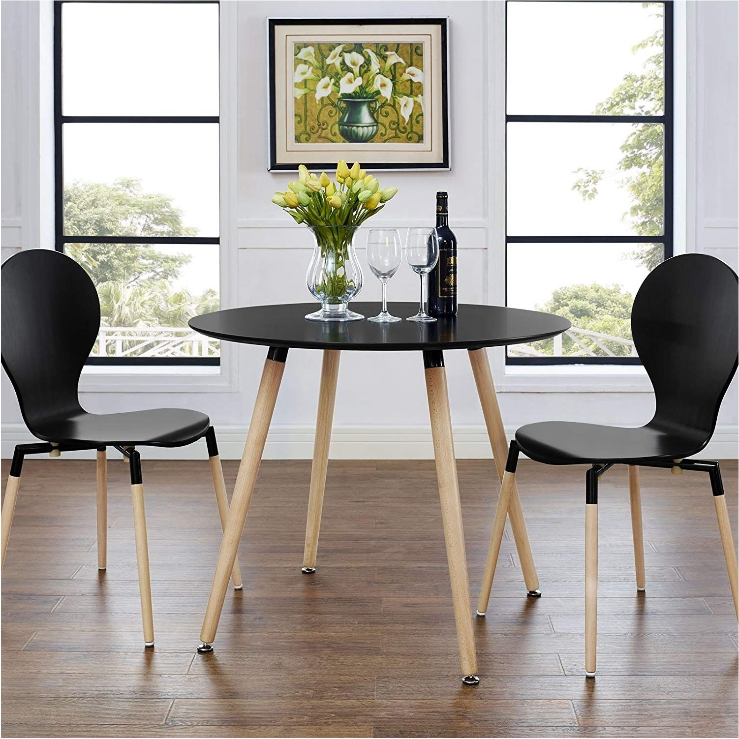 Brilliant Amazon Track Circular Dining Table Black Tables – Circular With Best And Newest Black Circular Dining Tables (View 13 of 25)
