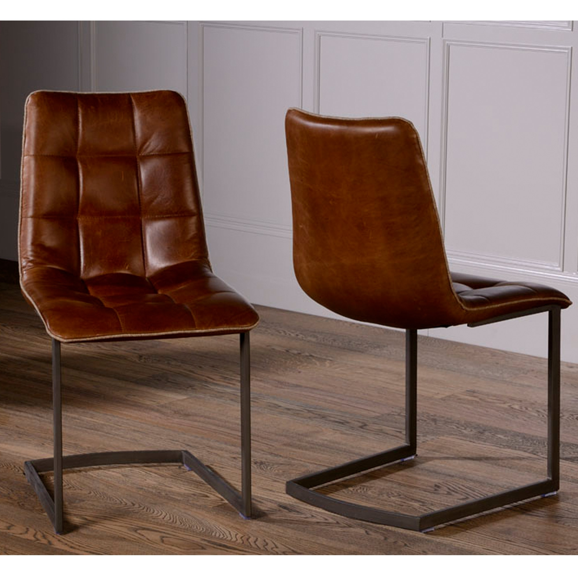 Brown Leather Dining Chairs Pertaining To Most Up To Date Related Keywords Suggestions For Leather Dining Chairs (View 18 of 25)