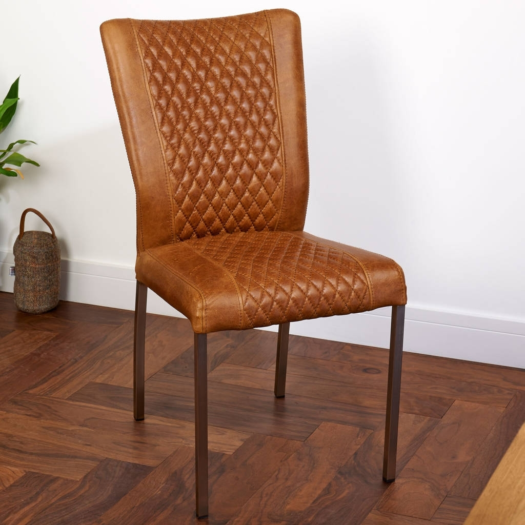 Brown Leather Dining Chairs Throughout Trendy Have Brown Leather Dining Chairs To Enhance Your Dining Room – Home (Gallery 8 of 25)