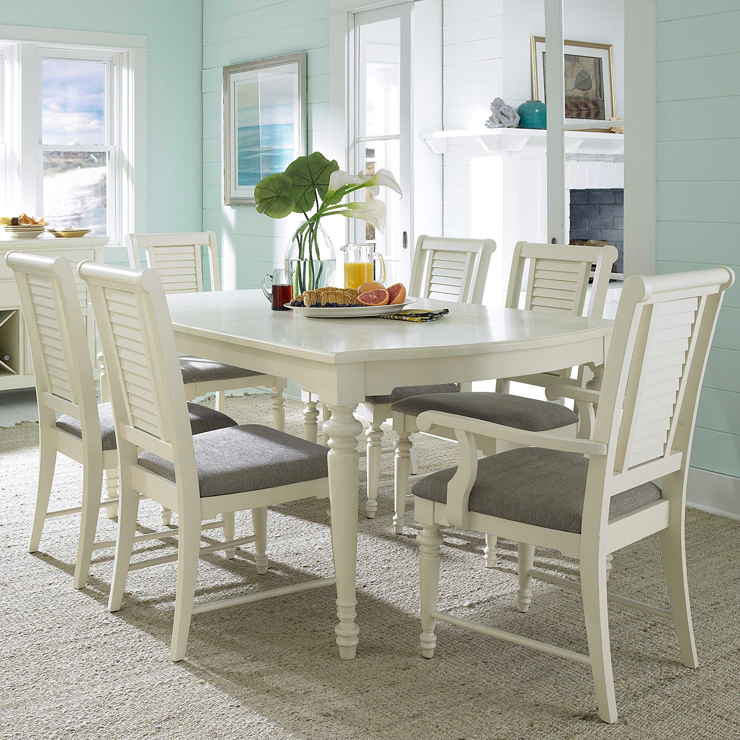 Broyhill Furniture Seabrooke 7 Piece Turned Leg Dining Table And Throughout 2018 White Dining Tables Sets (View 4 of 25)