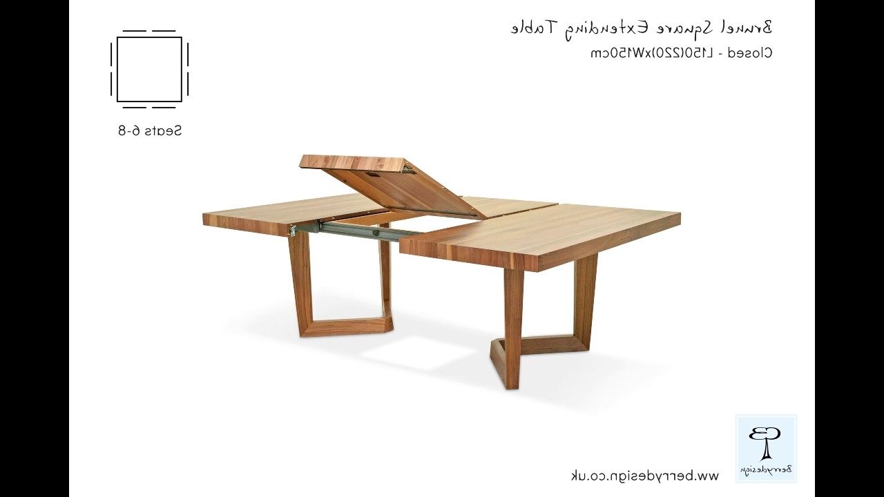 Brunel Square Extending Dining Table – Youtube With Regard To 2018 Craftsman Rectangle Extension Dining Tables (View 24 of 25)
