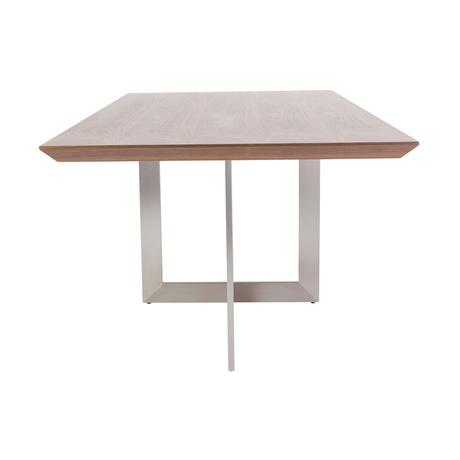Brushed Steel Dining Tables Throughout Fashionable Eurostyle Tosca Rectangle Dining Table In American Walnut With (Gallery 16 of 25)