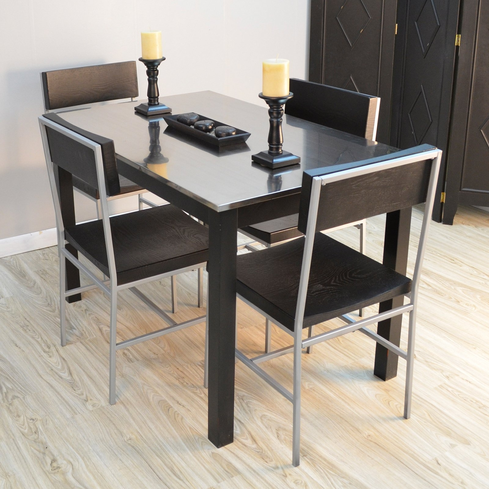 Brushed Steel Dining Tables Throughout Newest Dining Tables: Astounding Stainless Dining Table Zinc Dining Table (Gallery 14 of 25)