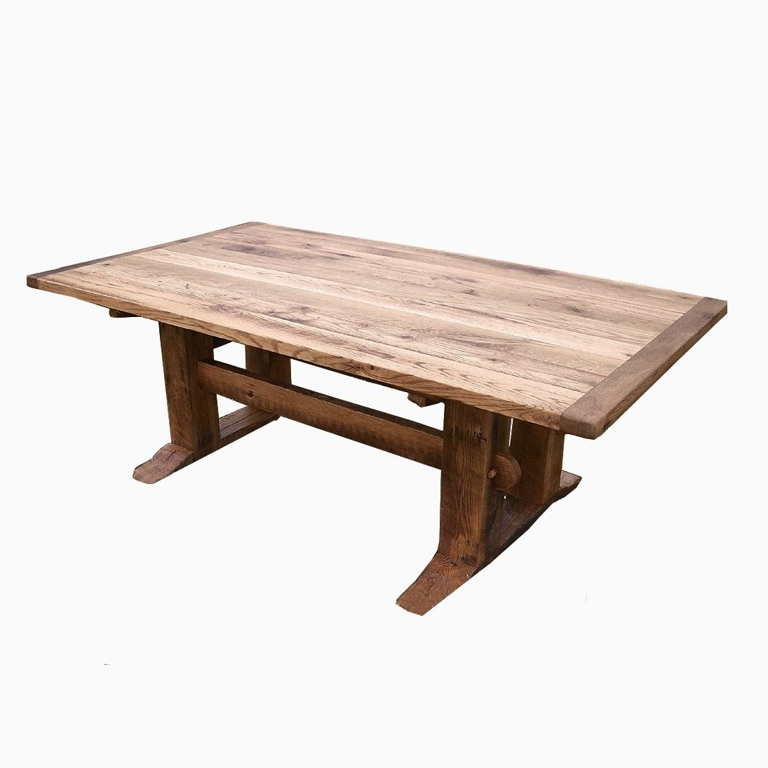 Buy A Hand Crafted Antique Oak Mission Style Trestle Table, Made To In Favorite Craftsman Rectangle Extension Dining Tables (View 12 of 25)